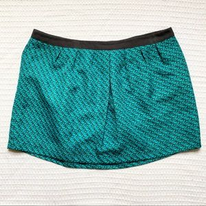Mossimo teal and grey textured mini skirt XXL